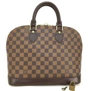 100% Auth Louis Vuitton Alma PM Damier Handbag